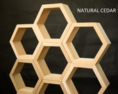 Wood Hexagon Honeycomb Shelf Set of 3 Hexagon Shelves Floating Wall Shelf Hexagon Shaped Crystal Shelf Bee Hive Decor
