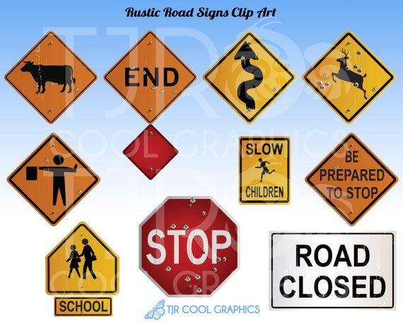 rustic road signs clipart construction clip art highway signage school zone stop sign deer crossing teachers educational realistic