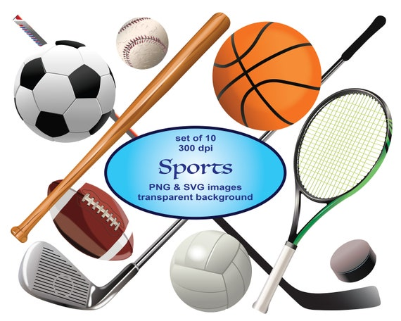 Sports Clip Art Sport Clipart Svg Clipart Football Clipart Etsy
