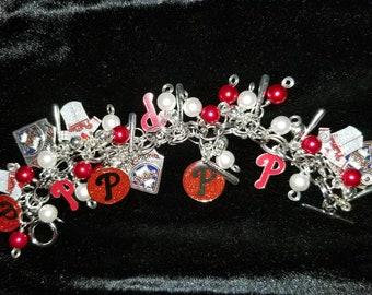 Philadelphia Phillies silvertone charm bracelet