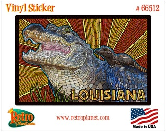 FL-02 Florida Girl Sunshine Alligator Orange State Vinyl Decal Sticker