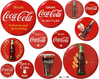 a441b693ab4 Coca-Cola Red Discs Decal Set Distressed