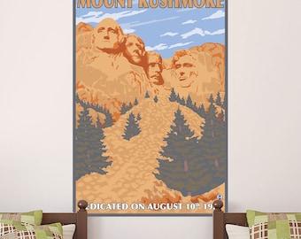 Mount Rushmore Dedicated 1927 Wall Decal - #60797