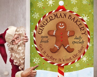 Gingerman Bakery Christmas Wall Decal - #68313