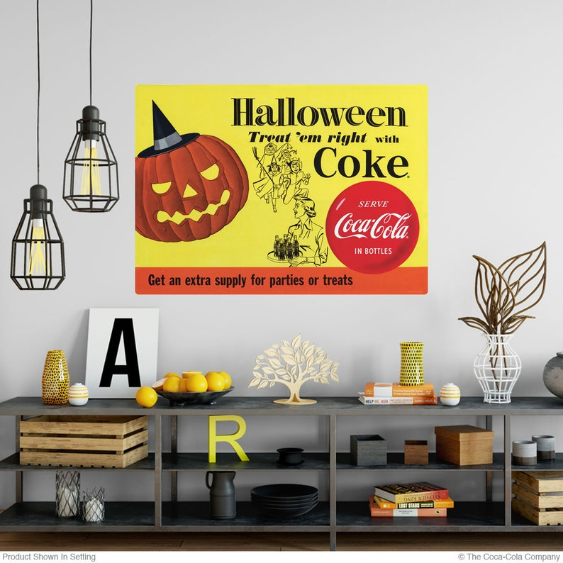 Coca-Cola 1954 Halloween Trick Or Treat Wall Decal