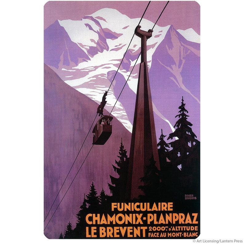 Funiculaire Chamonix France Skiing Wall Decal