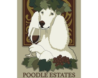 Poodle Estates Winery Dog Wall Decal - #61002