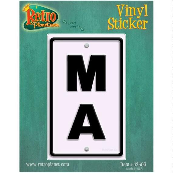 Massachusetts MA State Abbreviation Vinyl Sticker 52306