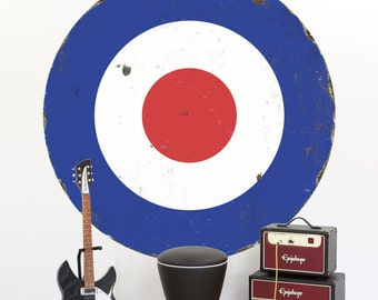 Mod Bullseye Porcelain Look Wall Decal - #71323