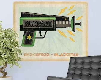 Blackstar Ray Gun Toy Lunastrella Wall Decal - #64324