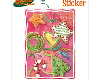 Christmas Cookies Holiday Vinyl Sticker - #65680