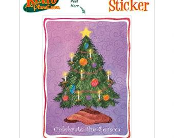 Christmas Tree Holiday Vinyl Sticker #65683