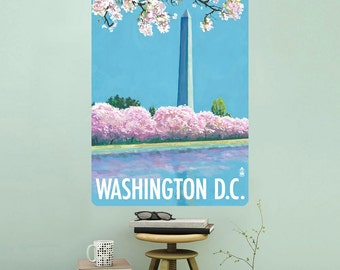 Washington DC Cherry Blossoms Wall Decal - #60843