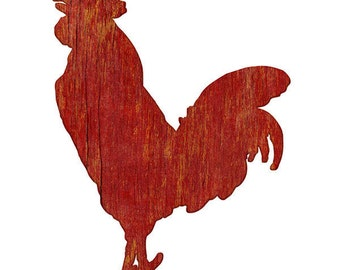 Rooster Farm Animal Wall Decal Red #44916