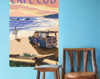 Cape Cod Massachusetts Surfing Wall Decal - #60922