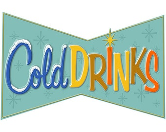 Cold Drinks Soda Fountain Wall Decal #40751