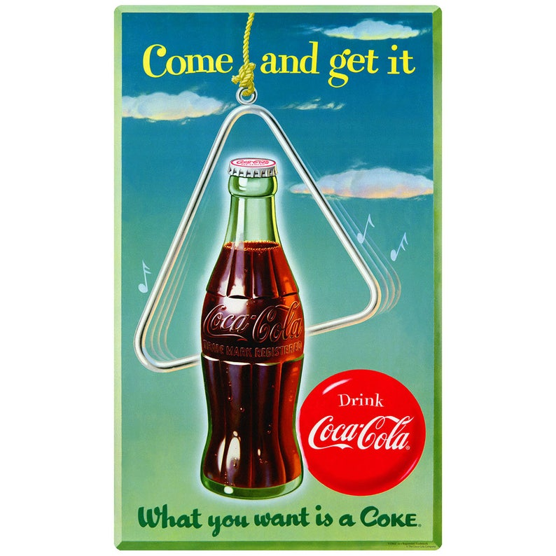 b64d98a819913c Coca-Cola Come and Get It Wall Decal | Etsy