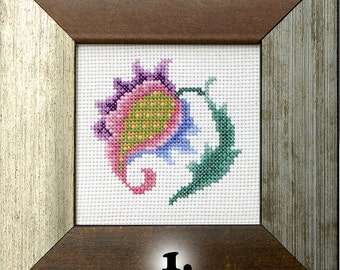 Gifts for home Fantastic Flower cross stitch completed embroidery framed cross stitch mini embroidery wall art hand embroidery ready to ship