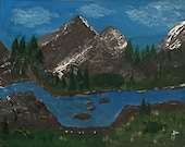 Mt. Imagination - Acrylic art on canvas 16x20 inches original art