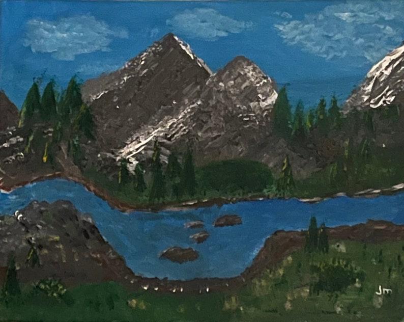 Mt. Imagination  Acrylic art on canvas 16x20 inches original image 0