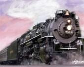 Sunset Express - Digital Art on Canvas