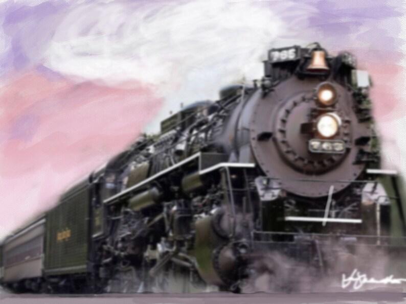 Sunset Express  Digital Art on Canvas image 0
