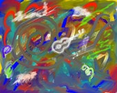 Synaptic Flashes of Sound - Digital on Canvas