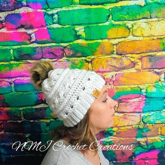 Crocheted Winter Hat For Women Pom Pom Winter Hat Baby  a63e59cc1