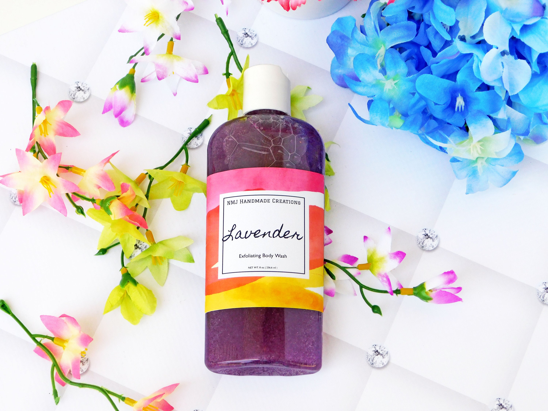 Lavender Exfoliating Body Wash With Jojoba Beads | Shower