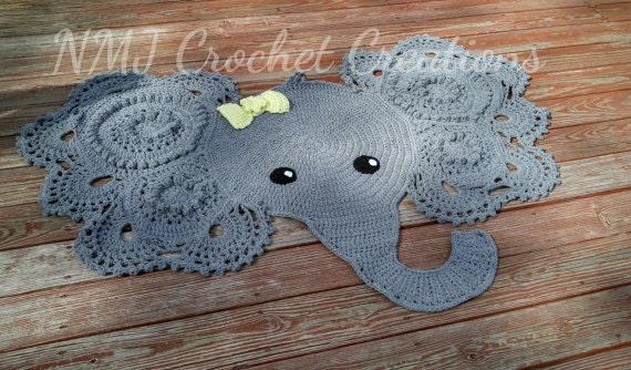 Gehäkelter Elefant Teppich Elefant Baby Dusche Etsy