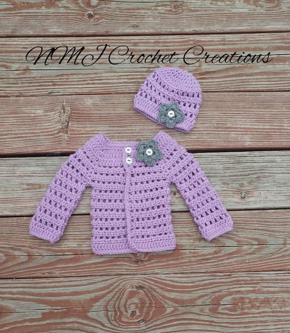 Babyset Pullover häkeln häkeln Baby Strickjacke
