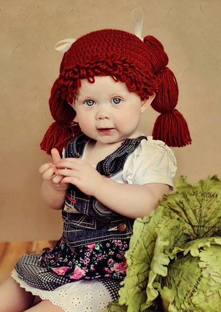 b024ec7e5 cabbage patch wig - cabbage patch hat - cabbage patch - crochet hat ...