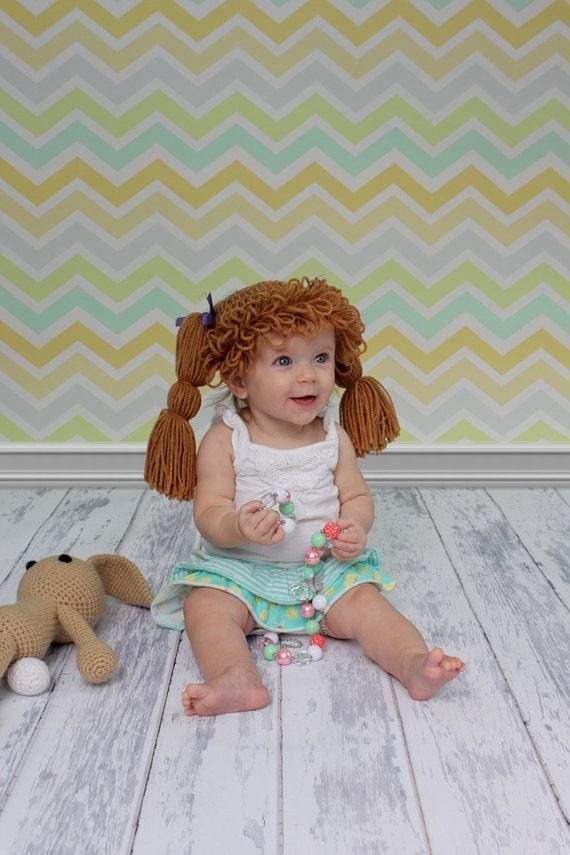 Cabbage Patch chapeau bonnet perruque Costume bébé fil   Etsy 58ec2d26edf