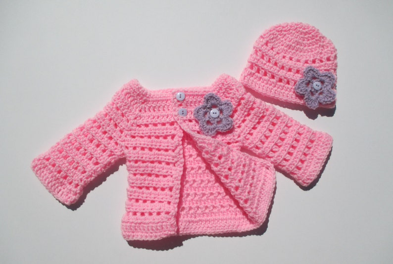 251cb22a6 Crochet baby sweater set Crochet baby cardigan Baby clothes