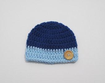 baby boy crochet hat, baby hat, baby beanie, beanie hat, newborn hat, baby hat, newborn hat, baby beanie, newborn beanie, Blue baby hat,