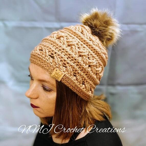 3e02133271ba1 Pom Pom Hat Winter Hat Womens Winter Hat Crochet Hat