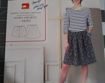 59db14e3fc Liesl + co. Soho shorts and skirt pattern size 0-20