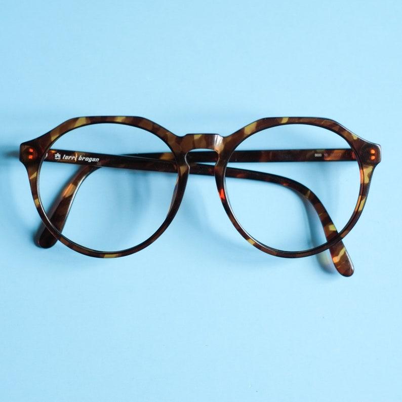 c2c07e7f22 90s Vintage Eye Glasses Terri Brogan   Retro Oversized Glasses Frame ...
