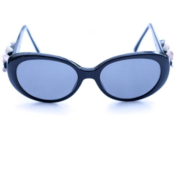Dolce and Gabbana Vintage Sunglasses Black / Flowe