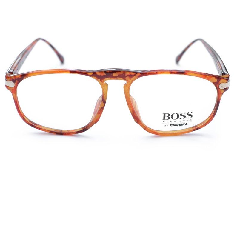 9868e3ab9e85 Hugo Boss Tortoise Shell Vintage Glasses Frames / 90s Glasses | Etsy
