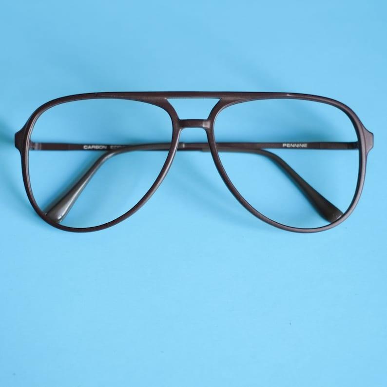 9a27dbd4ab985 Aviator Glasses Vintage 80s Eyeglasses by Pennine   Brown