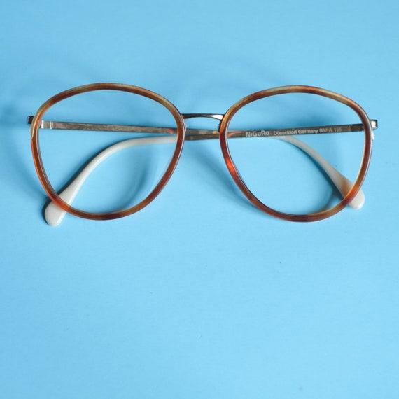 ee406546b1 Tortoise Shell Nigura Vintage Eyeglasses   Round Tortoise