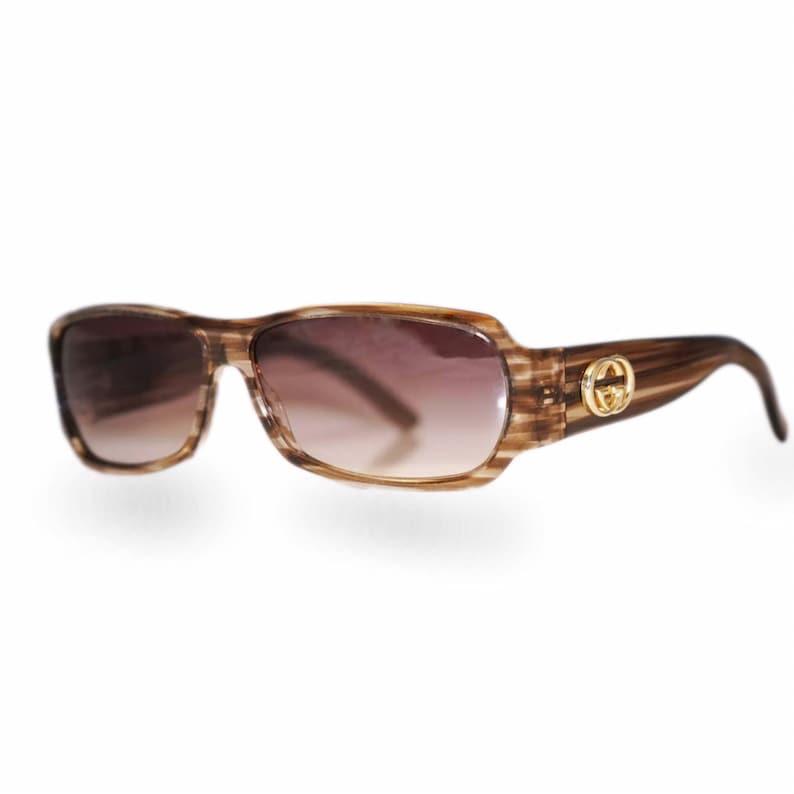 11a6961b613ba Gucci 2935 Vintage Sunglasses / 90s Sunglasses Designer / Gucci Sunglasses  / Womens Sunglasses / Rectangle Sunglasses / Brown Sunglasses