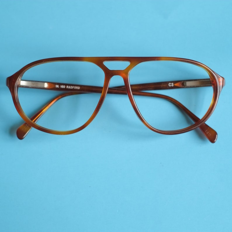 2c72a2c8265 Aviator Oversized Vintage Eyeglasses   Tortoise Shell Brown