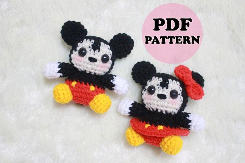 PATTERN Mickey and Minnie Crochet Amigurumi Doll PDF Crochet Pattern Instant Download
