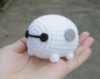 Big Hero 6 Cute MiNi Baymax ver. TsumTsum Amigurumi Crochet Doll Charms Keychain