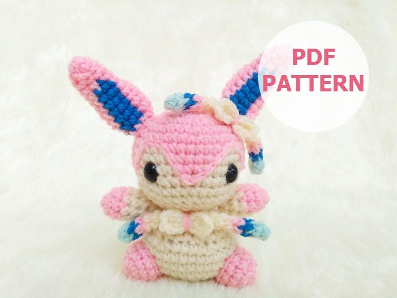 PATTERN: Sylveon Pokemon Amigurumi Doll PDF Crochet Pattern | Etsy