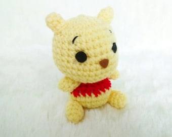 Pooh Cute Stuff(Winnie the Pooh) : Amigurumi Crochet Doll Charm Keychain