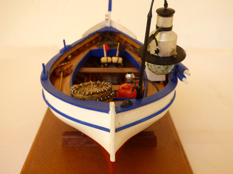 Model Wood Boat Rowing Gifts For Fishermen Wooden Ship