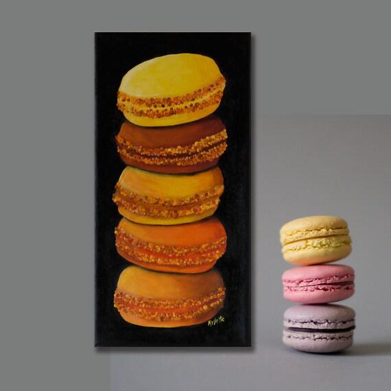 geschenktipp bilder macarons wandbilder f r die k che etsy. Black Bedroom Furniture Sets. Home Design Ideas
